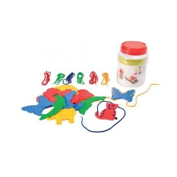 Bañador negro con flores azules